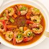 Фото к позиции меню Тажин с креветками и овощами (большой)