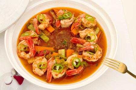 Тажин с креветками и овощами (большой)