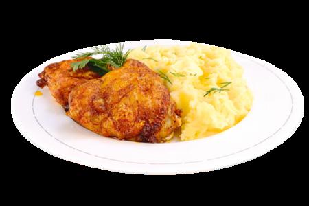 Бедро куриное с картофельным пюре
