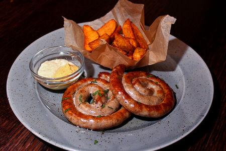Баварские колбаски на гриле
