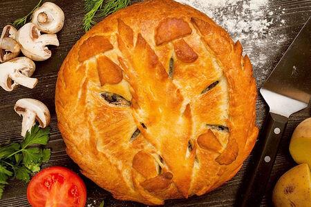 Пирог с картофелем и белыми грибами