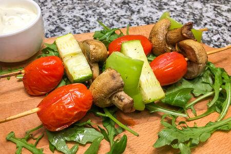 Шашлык с овощами