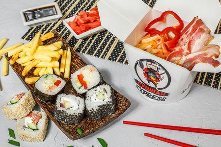 Сытный суши-ланч