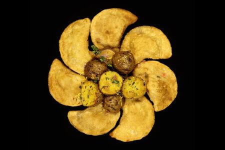 Вегетарианские вареники жареные КриспиПели с картофелем