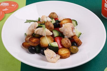 Салат с треской по-гречески