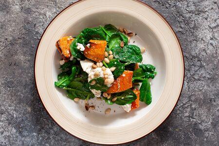 Салат с печёной тыквой и брынзой