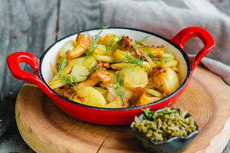 Картофель с грибами и джонджоли