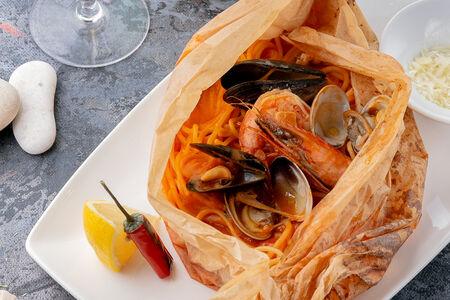 Спагетти Порто с морепродуктами