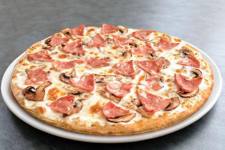 Пицца Ветчина и грибы средняя