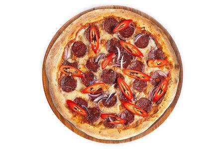 Пицца Дьябло на пышном тесте