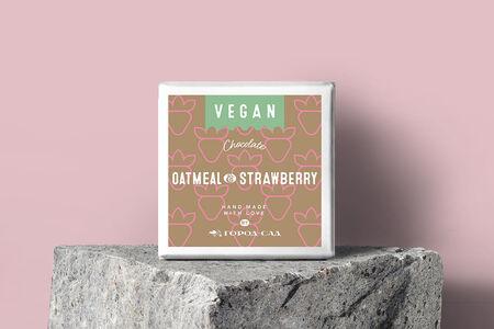 Шоколад Vegan на овсяном молоке с клубникой Город-Сад