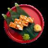 Фото к позиции меню Ролл Дракон с угрем и творожным сыром
