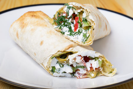 Греческий ролл вегетарианский