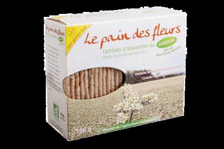 Хлебцы диетические из гречневой муки без соли, Pain des fleurs