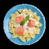 Фото к позиции меню Бантики с неркой в сливочным соусе