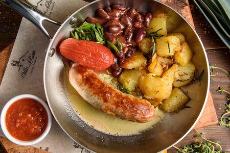 Баранья колбаска на гриле