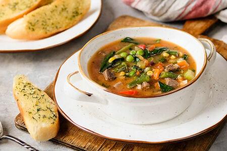 Суп итальянский с говядиной и овощами