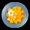 Фото к позиции меню Фруктовый микс Ананас, манго, Mosaic