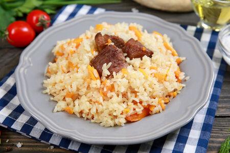 Плов узбекский с говядиной