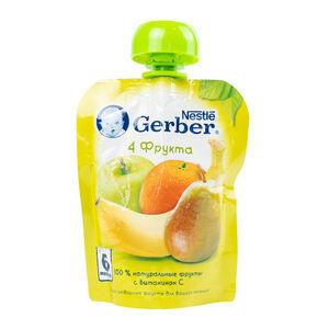 Gerber «4 фрукта» с 6 месяцев