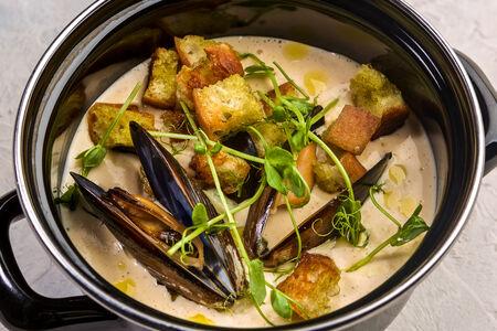 Суп Сырный с мидиями