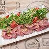 Фото к позиции меню Зеленый салат с ростбифом и томатами
