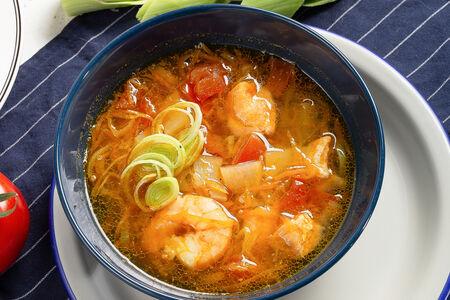 Суп густой из лосося