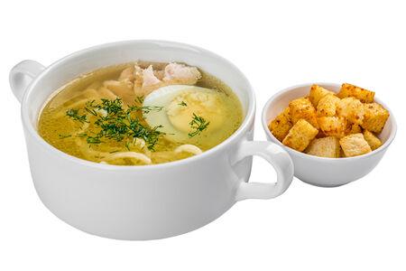 Суп Лапша с куриным филе и яйцом
