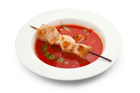Суп Гаспачо с шашлычком