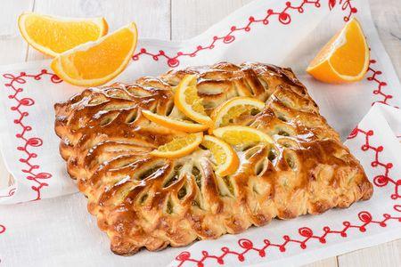 Пирог с апельсином и медом