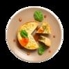 Фото к позиции меню Киш с сыром и шпинатом