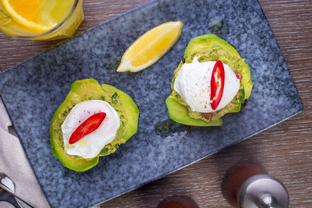 Тосты с авокадо и яйцомпашот