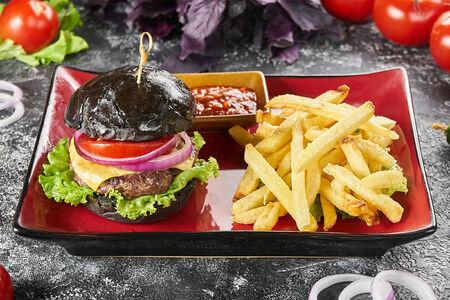 Бургер Черный с бараниной