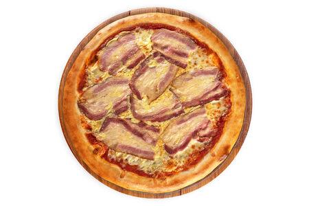 Пицца Карбонара на пышном тесте