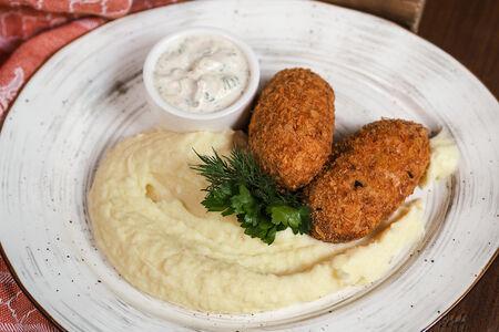 Рыбные зразы с картофельным пюре