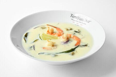 Суп Том Кха с тигровыми креветками