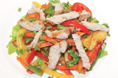 Теплый кебаб-салат