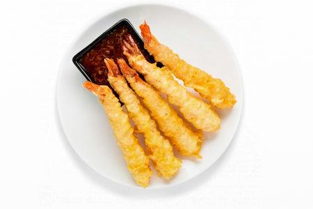 Креветки тигровые в панировке с соусом