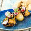 Фото к позиции меню Рулетики из жареных баклажанов с грецким орехом