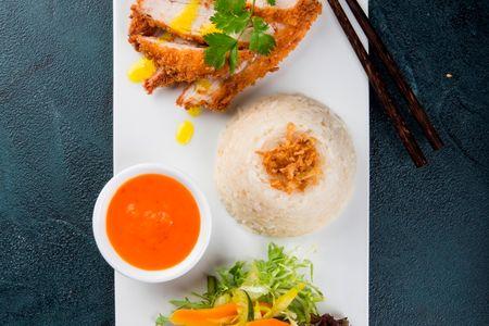 Рис по-сингапурски с курицей