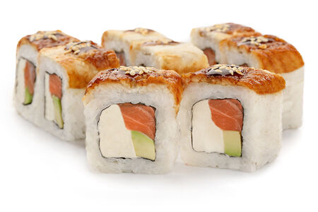 Ролл Канада с лососем