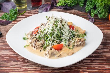 Тёплый салат  Гурман