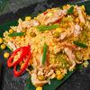 Фото к позиции меню Рис жареный с курицей и овощами