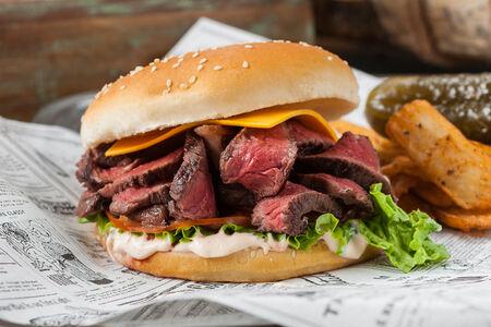 Стейк-бургер с говядиной