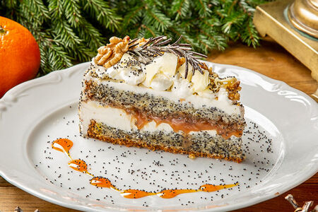 Торт Маковый с соленой карамелью