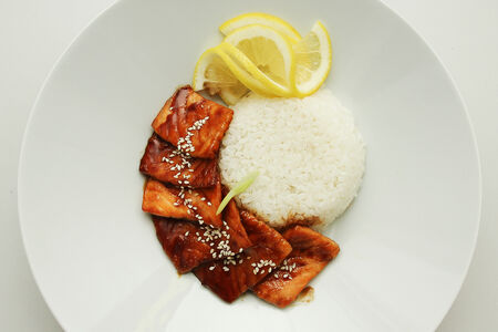 Лосось в соусе Терияки с рисом