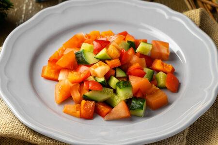 Салатик из свежих овощей