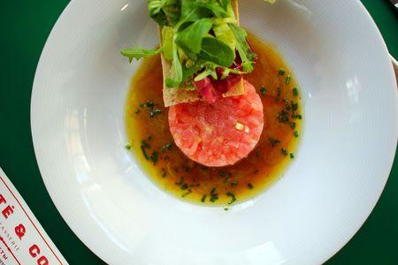 Тартар из тунца с соусом шисо