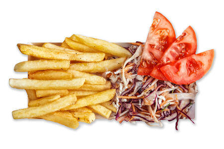 Бокстер Грин с салатом коул слоу и картофелем фри