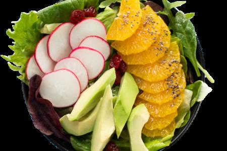 Салат-боул с апельсином, авокадо и вишней